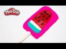 Пластилин Плей До. Как слепить арбузное мороженое. Учим цвета и делаем поделки для детей.