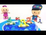 #eğiticivideo. Nicole, Pepee ve Bebe sayı treni birleştiriyorlar! Çocuk oyunları Türkçe izle!