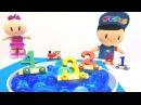Eğiticivideo. Nicole, Pepee ve Bebe sayı treni birleştiriyorlar! Çocuk oyunları Türkçe izle!