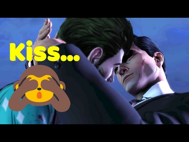 JohnJoker Kissing BruceBatman Romance - DONT WATCH ITS AWKWARD - The Enemy Within GameModed
