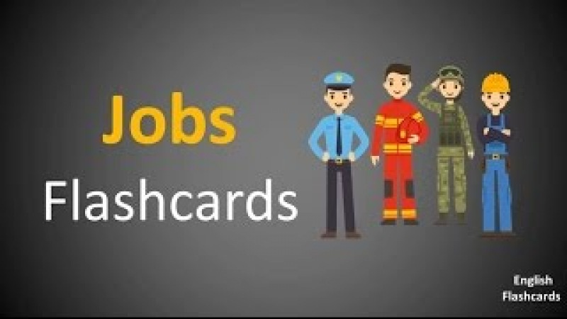 Learn Jobs Occupations vocabulary in English via Flashcards | HD |