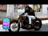 Easy Rider David Beckham Cruises Around LA On A Vintage Motorbike