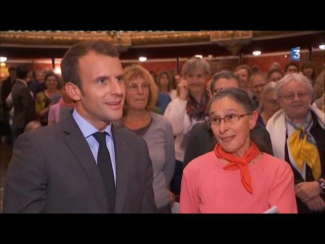 Emmanuel Macron en visite à l'opéra de Strasbourg 31.10.2017