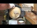 Интересная отделка!!(накатка рельефа,отжиг проволкой) wood turning 37 Egyptian King's Crucible hollow form part 1