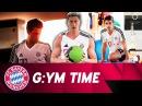 In the Gym with Hummels und Lewandowski 🏋 😓