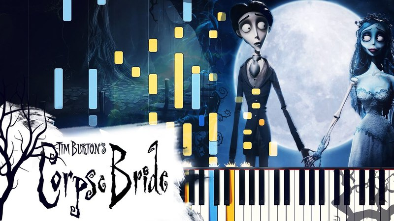 [PIANO TUTORIAL] The Piano Duet - Tim Burton's Corpse Bride (Synthesia, Extended Version)