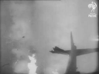 Nike Missile Destroys B17 Bomber (super dramatic music!)