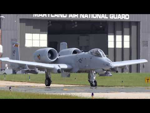 A-10 Warthogs - Middle River - Baltimore, Maryland, USA [4K/UHD]