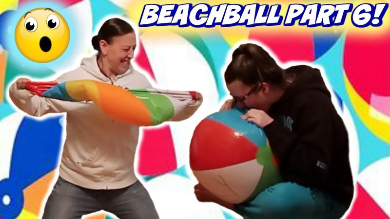 THE BEACHBALL CHALLENGE PART 6 MOM VS DAUGHTER! (With Teeth and Nails!)