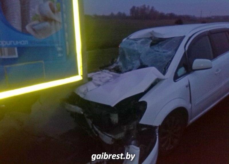 Березовский район: в аварии пострадала семья из Минска