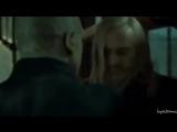 Draco/Lucius Malfoy/Severus Snape.