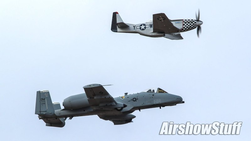 A-10 Warthog Aerobatic Demo and P-51 Mustang Formation - Thunder Over Louisville 2018