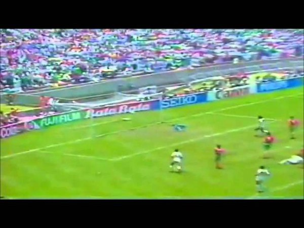 MANUEL NEGRETE WONDER GOAL MEXICO 86