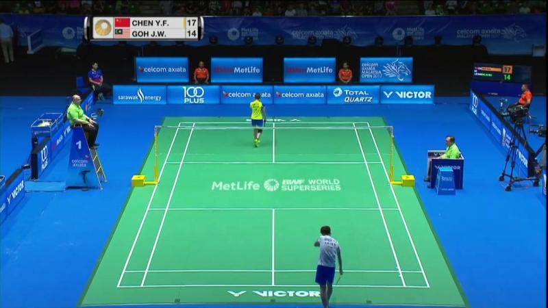Malaysia 2017 - R16 WS - Chen Yufei vs Goh Jin Wei - Бадминтон