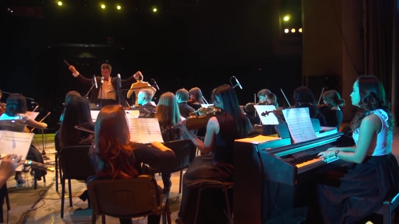 Аккордеонист Василий Кобзарев - концерт Как в кино (Красноярск 2017)