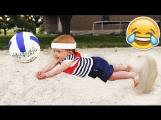KIDS PLAY VOLLEYBALL ! Funny Volleyball Videos (HD)