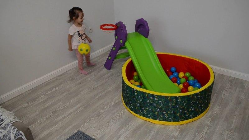 Игровой комплекс Горка Дубок и сухой бассейн с шариками