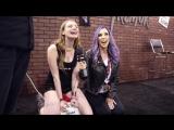 Pornstar Jelena Jensen interviews hot girls on the tremor sex toy at Exxxotica!