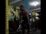 Иван Макаров !Грузия), становая тяга с плинтов (14 см) - 370 кг на 7 раз ?