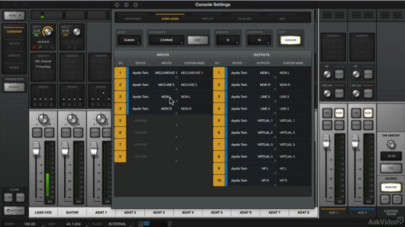 6. Console with Studio One [Ask Video] Universal Audio 201: Learn The Mix Console UAD2 [2016, ENG]