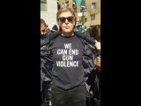 Paul McCartney with Lorna Mae Johnson at March For Our Lives in New York City (24.003.2018)