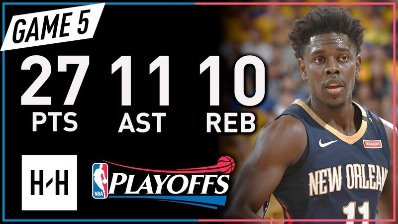 Jrue Holiday Triple-Double Game 5 Highlights vs Warriors 2018 Playoffs WCSF - 27 Pts, 11 Ast 10 Reb