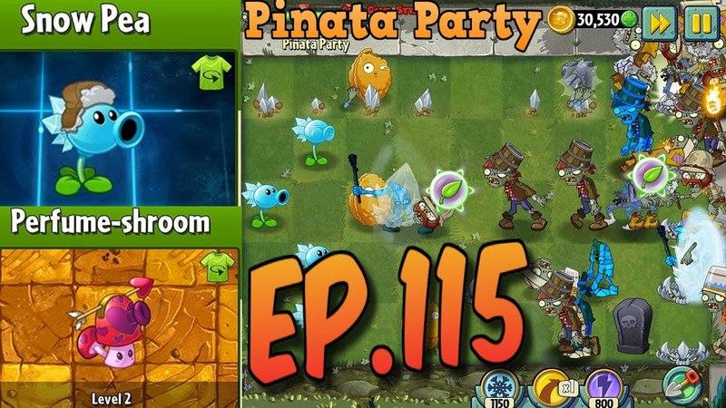 Plants vs. Zombies 2 || Snow Pea Costume, Perfume-shroom Costume - Pinata Party 462018 (Ep.115)