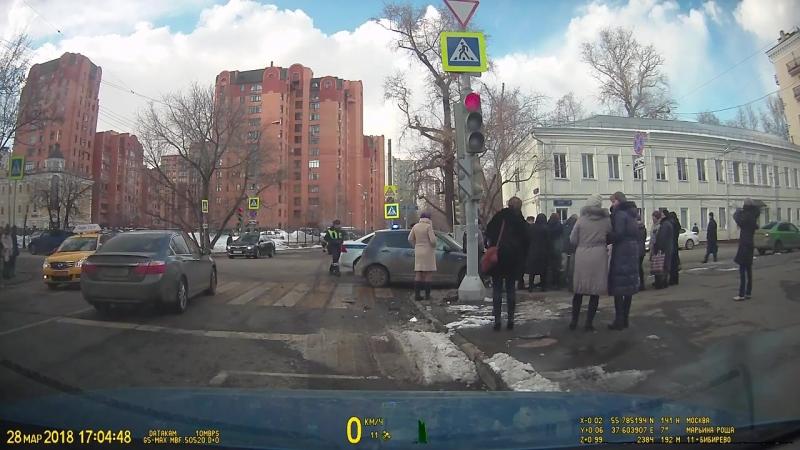 Авария г Москва 28 марта 2018 17 03 Марьина роща
