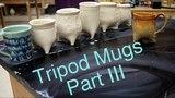 Frost porcelain Soft slab Tripod Mugs Glazing Part 3 Pottery 1