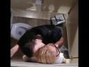 Красотки лесбиянки ласкают друг друга в туалетной кабинке , не порно, секси , сиськи , попка