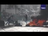 Кадры беспорядков в Палестине