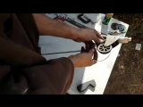Making A Bow Out Of A Leaf Spring - Solid Metal Compound Bow -