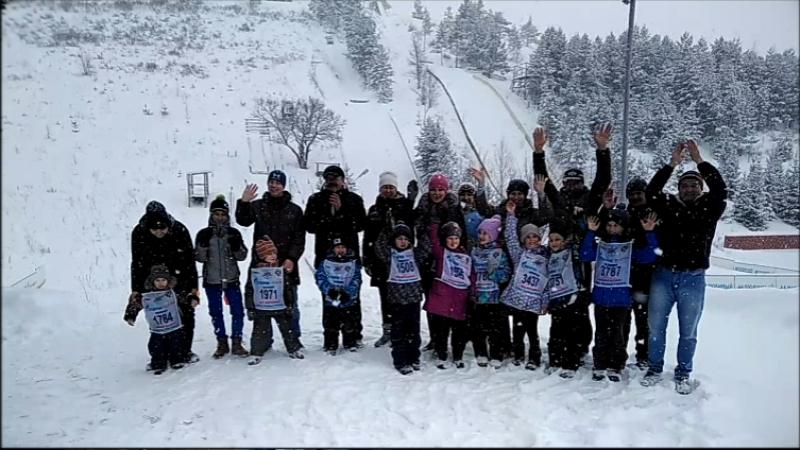 Соревнования юных летающих лыжников г. Альметьевск