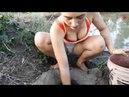 Cô gái xinh đẹp đi bắt cá - Cuộc sống quê tôi 86 | Beautiful girl to catch fish - Life in my country