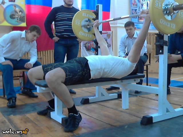 Денисов К, СВ=88,6 кг, 55 кг на 94 повт , Первенство ТПУ, 23 02 2014