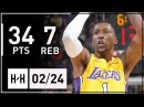 Kentavious Caldwell-Pope Full Highlights Lakers vs Kings (2018.02.24) - 34 Points, 7 Reb, 8 Threes!