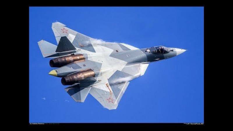 «Важный сигнал для США»: военный эксперт прокомментировал видео полета новейших Су-57 в Сирии