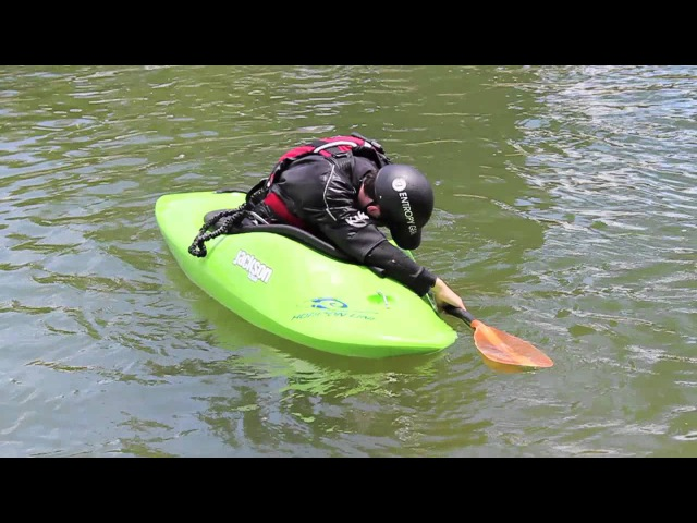Lean forwards when you are upside down How to Kayak Paddle Education