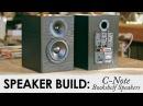 C-Note Bookshelf Speakers Kit Build || Built In WiFi Bluetooth Amp!