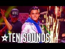 HUMAN BEATBOXER Does 10 New Sounds on Asia's Got Talent 2017