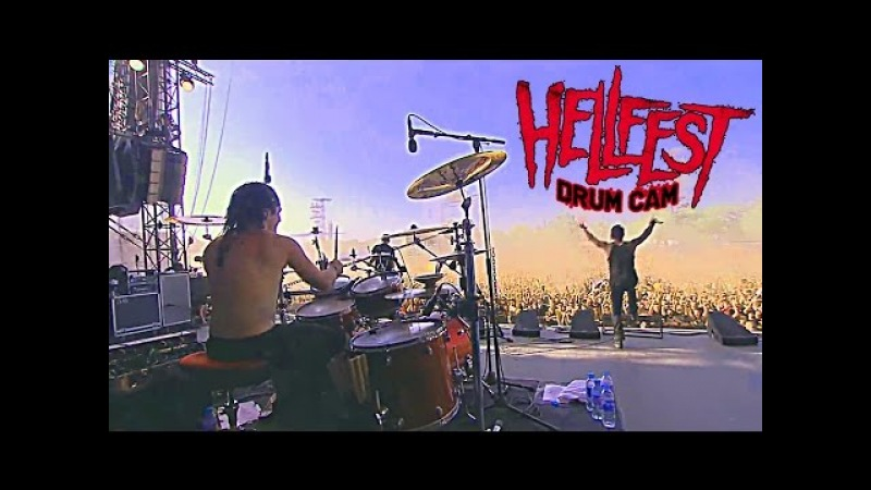 DAGOBA Franky COSTANZA HELLFEST 2014 DRUM CAM Its all about time