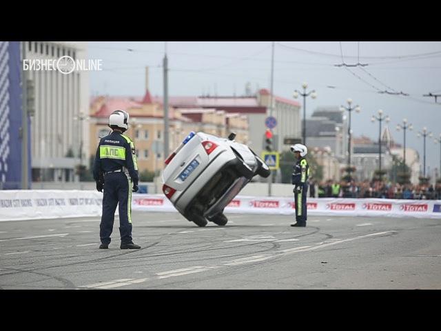 Полицейские трюки и дрифт от «КАМАЗ-Мастер» на Kazan City Racing