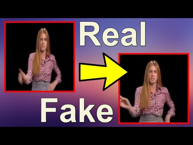 Deepfakes real time side by side comparison (Amy Adams Nick Cage)