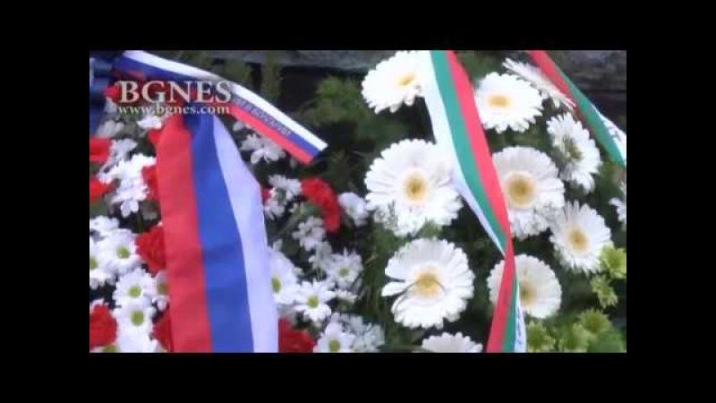 Венци пред паметника на Българския опълченец за Освобождението на София