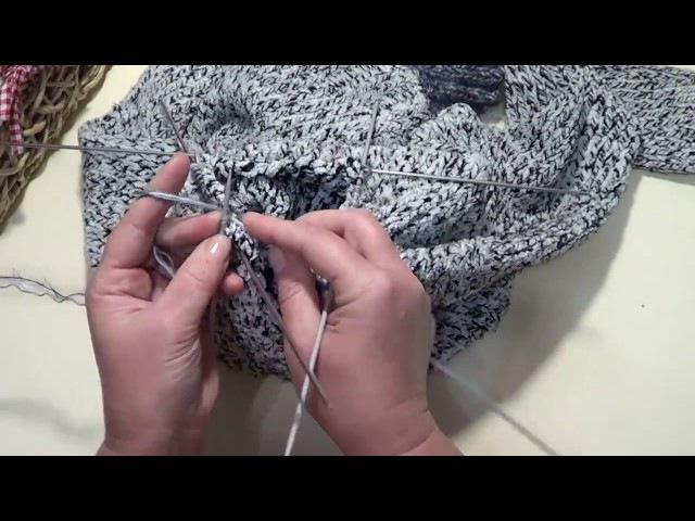 Как удлинить свитер. Как связать эластичный край. How to lengthen a sweater.