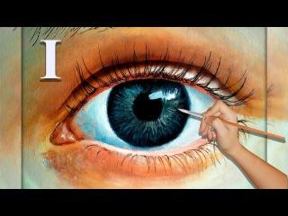 Как рисовать (нарисовать,написать) глаз, обучающий урок рисования