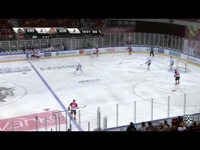КХЛ (Континентальная хоккейная лига) - Моменты из матчей КХЛ сезона 16/17 - Гол. 3:2. Тайми Томми (К
