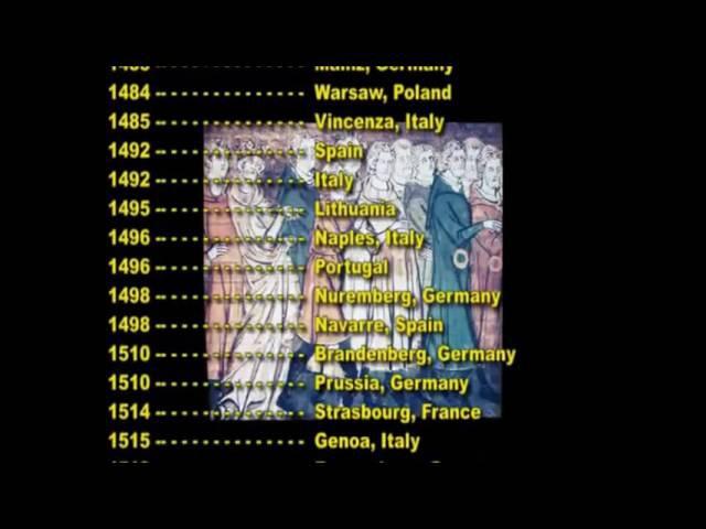 Países dos quais os Judeus Foram Expulsos e Datas 2