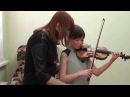 T. Berkul. Work on violin sound with pupils of different ages, cycle of video lessons