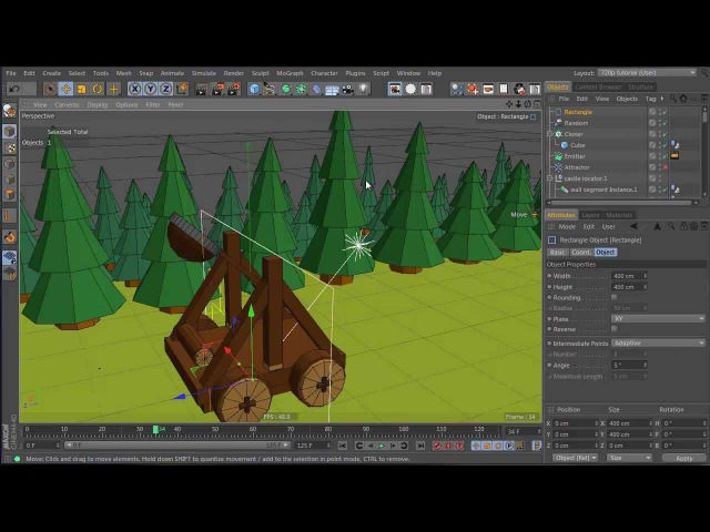 Tutorial: Create a Dynamic Catapult Animation in Cinema 4D: Part 5